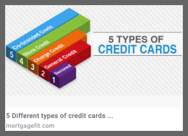 5 credit card types