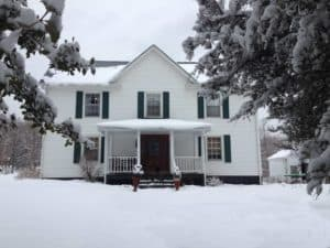 Front of House in winter snow