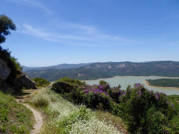 View of Guadarranque Reservoir taken from Castellar de la Frontera