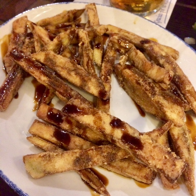 Aubergine chips from Bar Baratillo in Seville