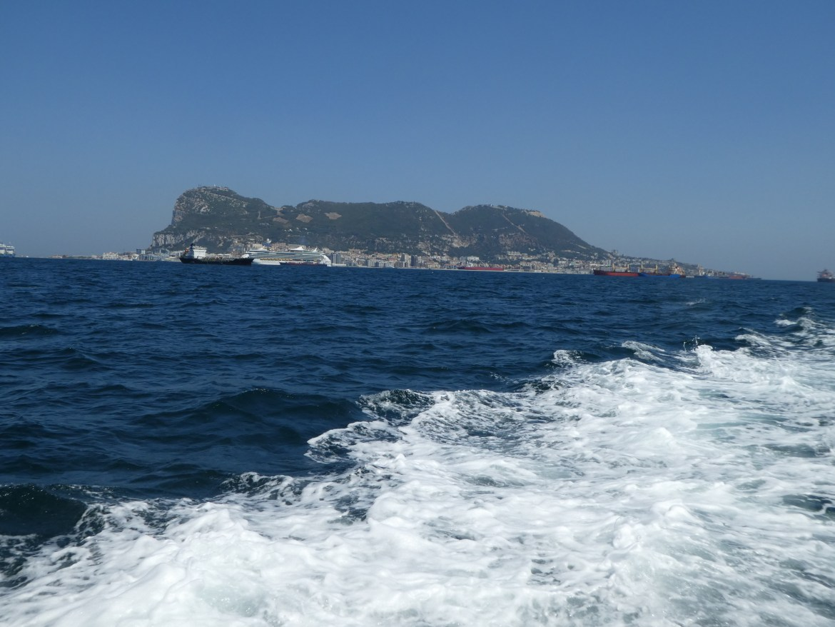 Gibraltar viewed from the sea