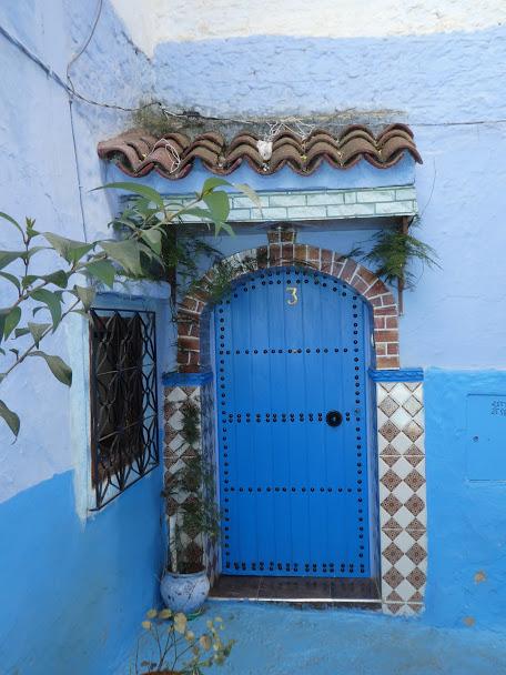Blue door in Chefchaouen Medina