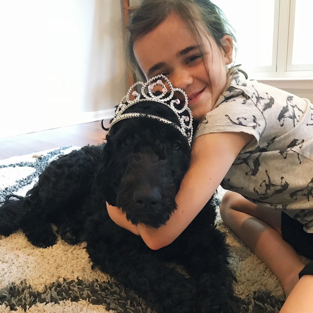 Becky's daughter and dog