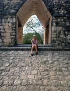 Under the arch at Ek Balam