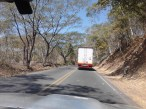 the main highway up the west coast was one lane forever -- we followed this truck for HOURS and couldn't get around him