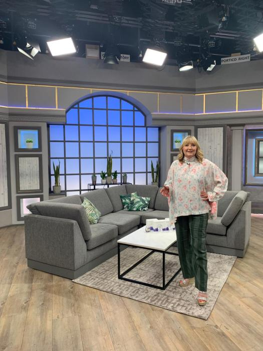 On set at QVC for my Beauty Insider show