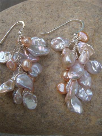 keishi pearl cluster earrings 2
