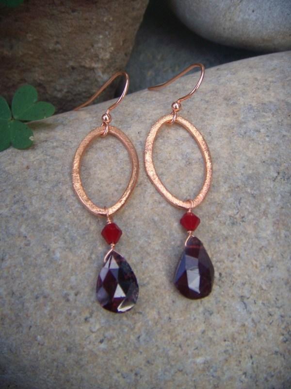 small garnet earrings