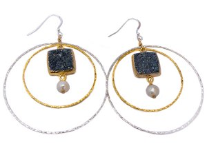 Earrings Hand-crafted druzy