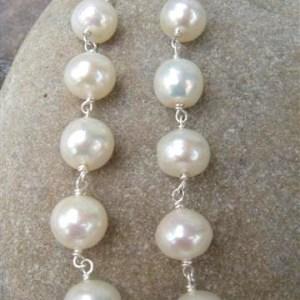 dangly pearl drop earrings