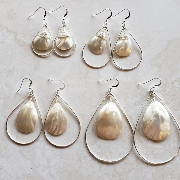 mother of pearl teardrop earrings
