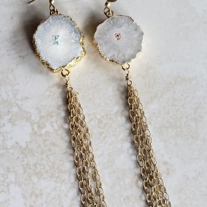 agate tassel earrings