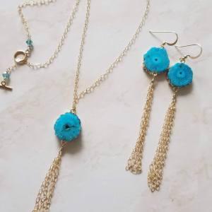turquoise agate set