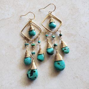 turquoise chandeliers