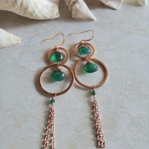 long green onyx earrings