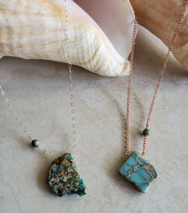 jasper necklace copper