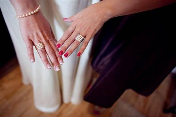 Beaded Pearl Rings