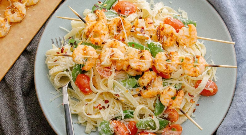 Green Chef Shrimp Linguine Alfredo