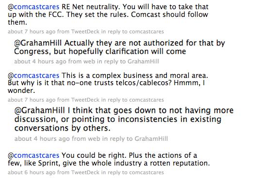 il botta e risposta tra Comcast e Hill su Twitter