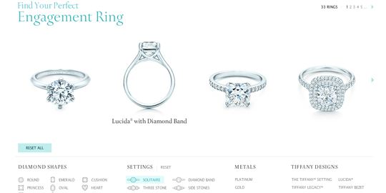 Il finder di Tiffany's Engagement Ring