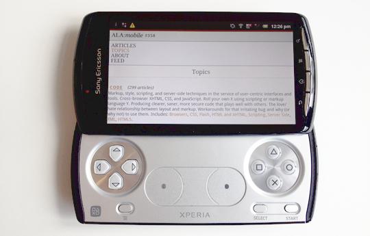 The Sony Ericsson Xperia