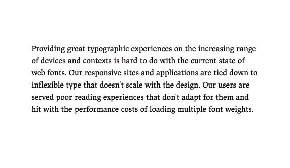 Un paragrafo con il carattere impostato alla versione testo di JAF Lapture, che mostra come si legga meglio la versione testo.