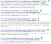 I risultati della ricerca di Google che mostrano i topic di web design