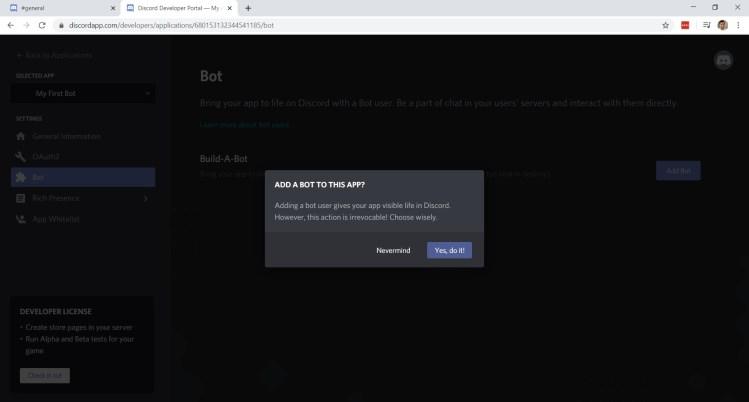 Discord Bot Prompt