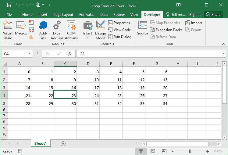 Excel VBA Cells Loop 1