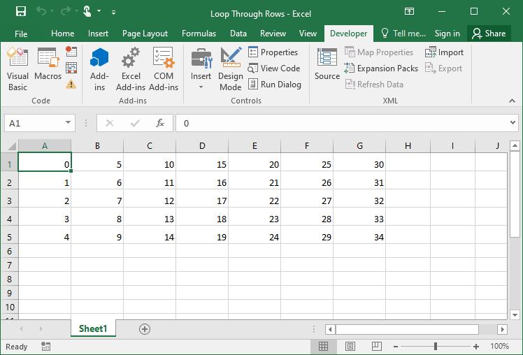 Excel VBA Cells Loop 2