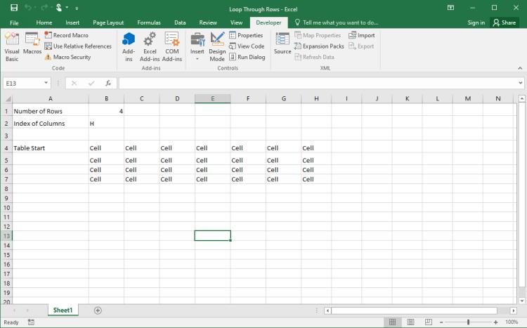 Excel VBA Dynamic Range 2