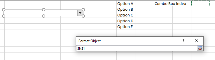 Excel Form Control Combo Box Cell Link
