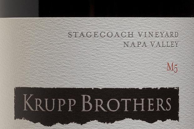 The 2010 Krupp Brothers Stagecoach Vineyards M5 Cabernet Sauvignon