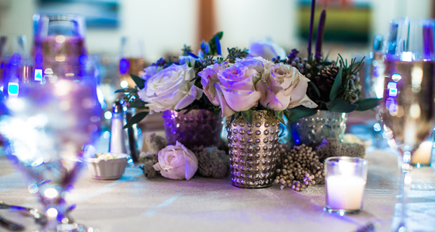 Romantic tablescapes created a warm and welcoming atmosphere