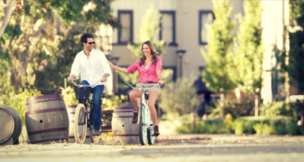 Biking is the perfect way to travel between wine tasting in the valley