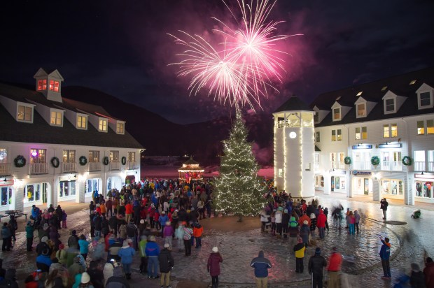 Waterville Valley Resort Fireworks at the Town Square