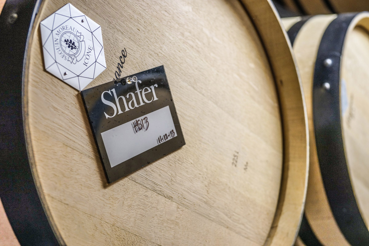A Barrel of Shafer Vineyard's Hillside Select 2013