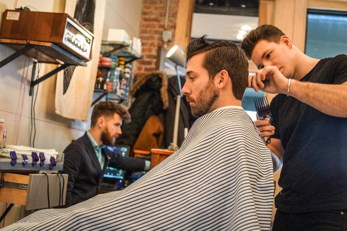 Austin of Persons of Interest Barbershop in Brooklyn