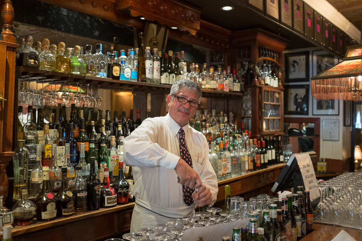 In the off chance you've wandered into the American Hotel and wine just isn't your thing, don't worry, the bartender has you covered.