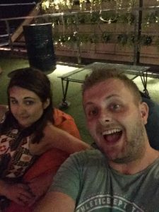 Claire and I at Skybar in Siem Reap