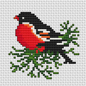 Cute Bird Cross Stitch Pattern