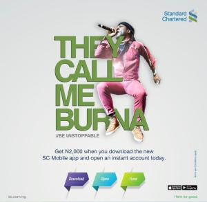 burna boy on stanchart