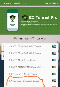Vodacom Unlimited Free Browsing With Ec Tunnel VPN