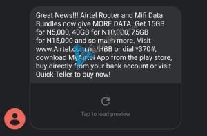 Airtel Mifi Data bundle