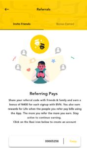 Baxi mobile app referral