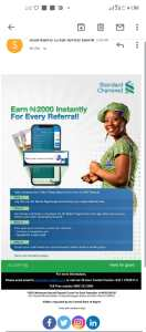Standard chartered 2000 referral bonus notice