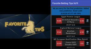 Favorite Betting Ht/FT Tips