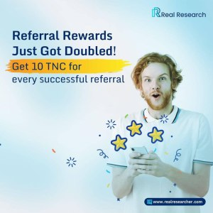 Real research survey referral program
