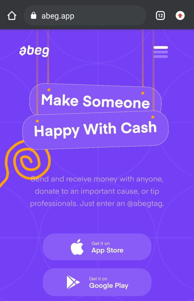 How To join abeg app