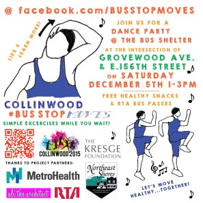online event flyer BUS STOP MOVES